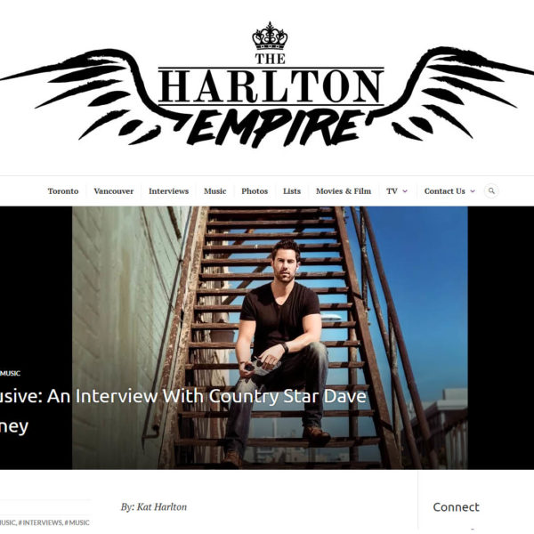 Dave is interviewed by The Harlton Empire. Read the interview here!