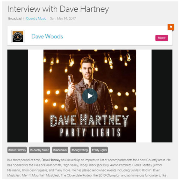 Dave is interviewed by In the Country. Listen to the interview here!
